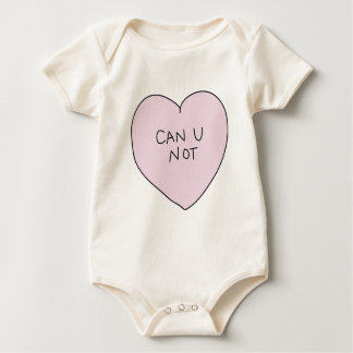 Can U Not Heart Baby Bodysuit