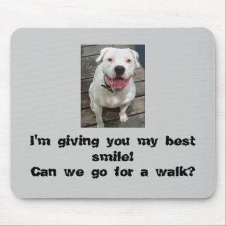 Can we go for a walk?  Mousepad