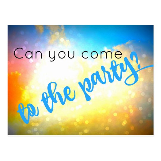 Can You Come To The Party Invitation Postcard