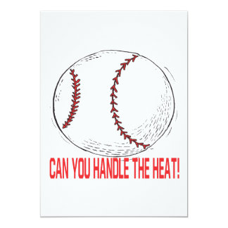 """Can You Handle The Heat 5"""" X 7"""" Invitation Card"""