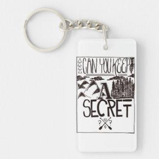 Can You Keep A Secret Double-Sided Rectangular Acrylic Keychain