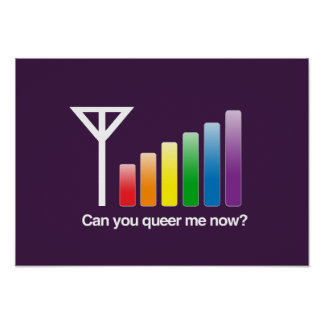 CAN YOU QUEER ME NOW - png Posters