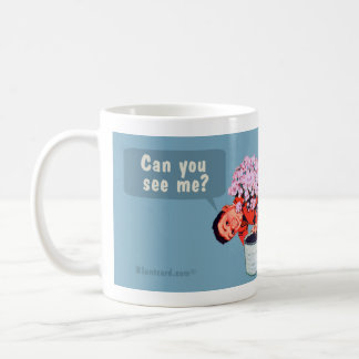 Can you see me? Children are stupid. Classic White Coffee Mug