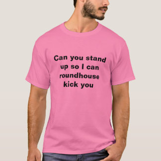 Can you stand up so I can roundhouse kick you T-Shirt