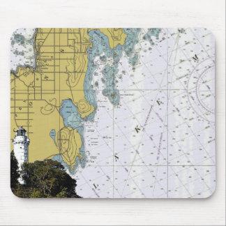 Cana Island Lighthouse Chart mousepad