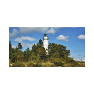 Cana Lighthouse in Door County Wisconsin Canvas Print