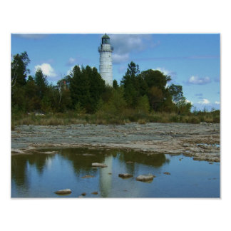 Cana Lighthouse in Door County Wisconsin Poster