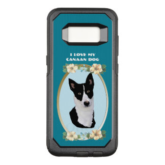 Canaan Dog on Teal Floral OtterBox Commuter Samsung Galaxy S8 Case