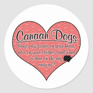 Canaan Dog Paw Prints Humor Classic Round Sticker