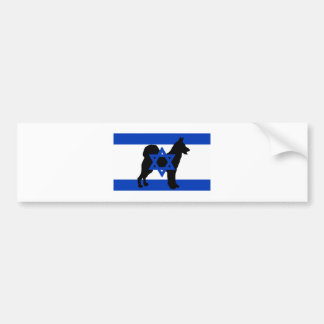 canaan dog silhouette flag bumper sticker