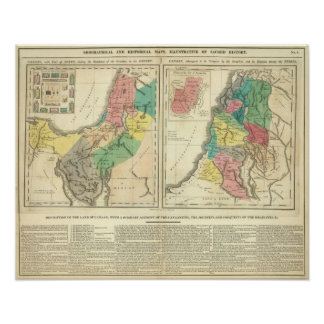 Canaan - Israel Atlas Map Poster