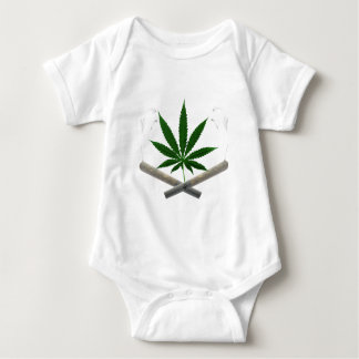 Canabis leaf/Marijuana Joint ET Baby Bodysuit