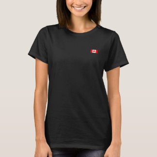 Canad flag with glasses on maple T-Shirt