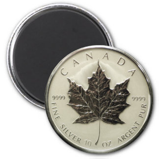 Canada 10oz Silver Coin 2 Inch Round Magnet
