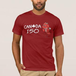 Canada 150 - Anthro SD Dragon Cartoon T-shirt Slim