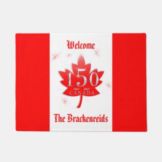 Canada 150 Birthday Celebration Maple Leaf Doormat