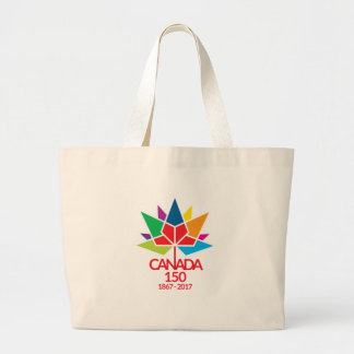 Canada 150 Celebrating 150 years. Large Tote Bag
