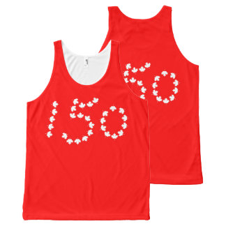 Canada 150 celebration All-Over-Print tank top