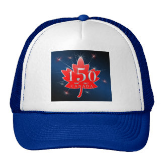Canada 150 commemorative Maple Leaf Celebration Trucker Hat