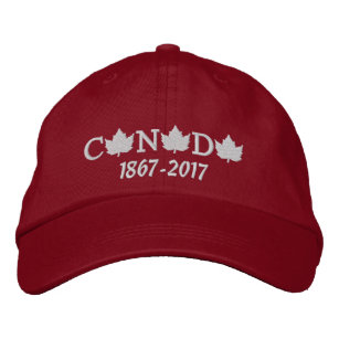 23d0b56b732 Canada 150 Embroidered Red Baseball Cap