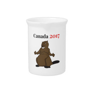 Canada 150 in 2017 Beaver Beverage Pitcher