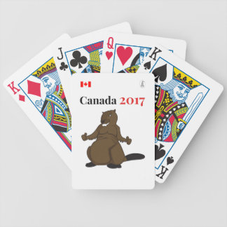 Canada 150 in 2017 Beaver Bicycle Playing Cards