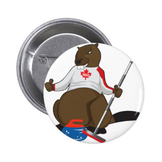 Canada 150 in 2017 Beaver Curling Main 2 Inch Round Button