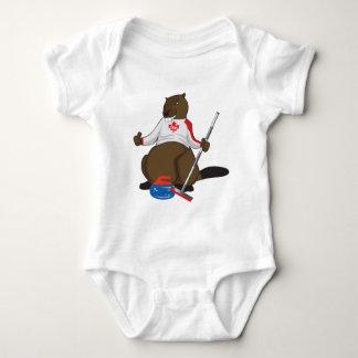 Canada 150 in 2017 Beaver Curling Main Baby Bodysuit
