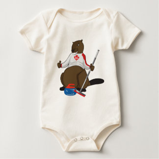 Canada 150 in 2017 Beaver Curling Main Baby Bodysuit
