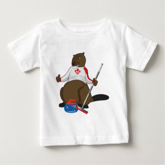 Canada 150 in 2017 Beaver Curling Main Baby T-Shirt