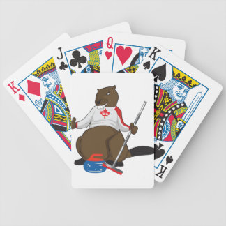 Canada 150 in 2017 Beaver Curling Main Bicycle Playing Cards