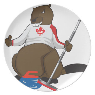 Canada 150 in 2017 Beaver Curling Main Dinner Plates