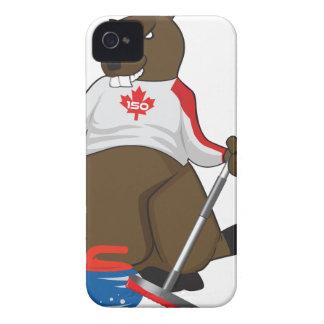 Canada 150 in 2017 Beaver Curling Main iPhone 4 Case-Mate Cases