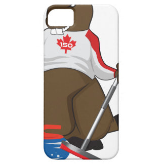 Canada 150 in 2017 Beaver Curling Main iPhone 5 Cases