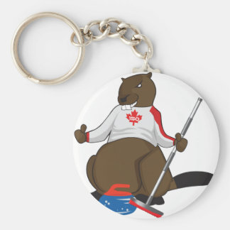 Canada 150 in 2017 Beaver Curling Main Keychain