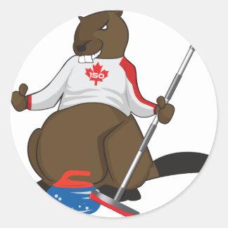 Canada 150 in 2017 Beaver Curling Main Round Sticker