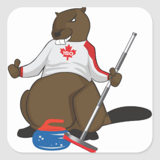 Canada 150 in 2017 Beaver Curling Main Square Sticker