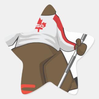 Canada 150 in 2017 Beaver Curling Main Star Sticker