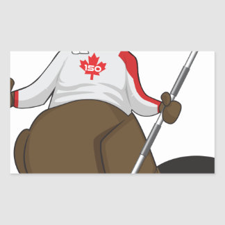 Canada 150 in 2017 Beaver Curling Main Sticker