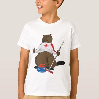 Canada 150 in 2017 Beaver Curling Main T-Shirt