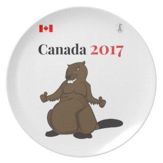 Canada 150 in 2017 Beaver Dinner Plates