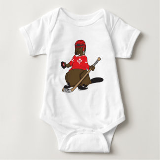 Canada 150 in 2017 Beaver Hockey Baby Bodysuit