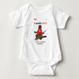 Canada 150 in 2017 Beaver Hockey Dominance Baby Bodysuit