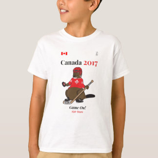 Canada 150 in 2017 Beaver Hockey Game On T-Shirt