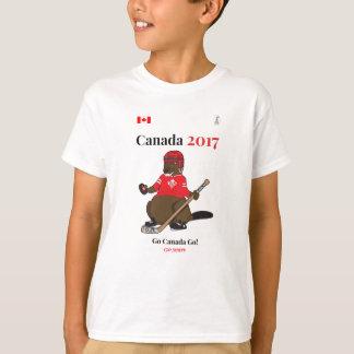 Canada 150 in 2017 Beaver Hockey Go Canada T-Shirt