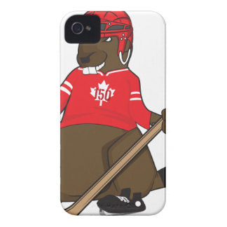 Canada 150 in 2017 Beaver Hockey iPhone 4 Cases