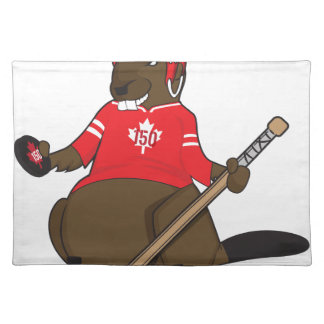 Canada 150 in 2017 Beaver Hockey Placemat