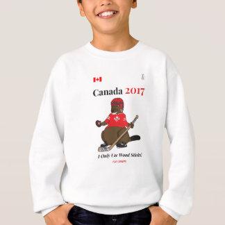 Canada 150 in 2017 Beaver Hockey Wood Sticks Sweatshirt