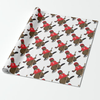 Canada 150 in 2017 Beaver Hockey Wrapping Paper