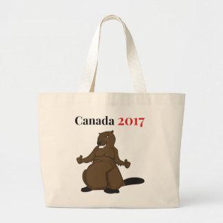 Canada 150 in 2017 Beaver Large Tote Bag